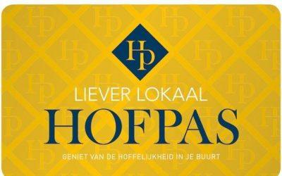 Update gebruik Hofpas sparen